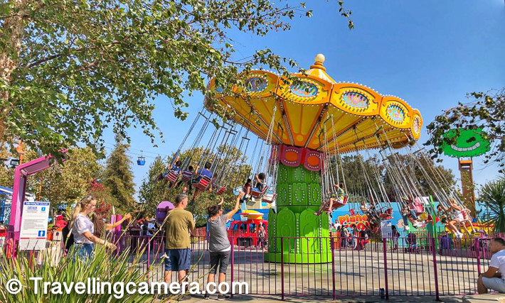 There are some pretty cool rides for kids, like the above. It starts a slow pace and the speed keeps increasing gradually and during the final phase, all these strings fly high.