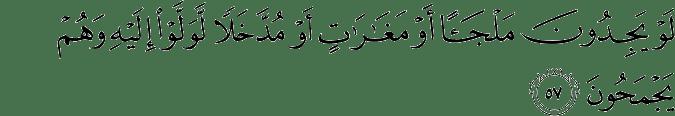Surat At Taubah Ayat 57