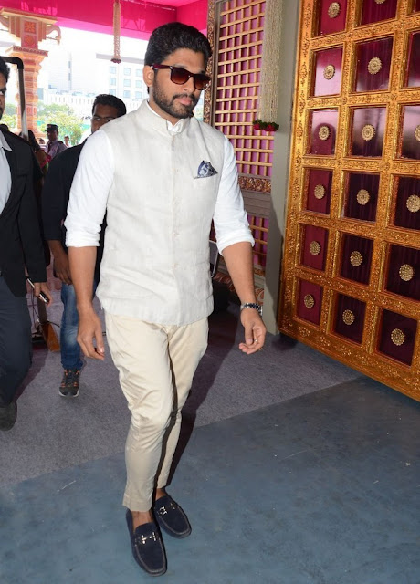 Allu arjun at T. Subbarami Reddy Grandson Keshav Wedding
