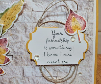 Rhapsody in craft, Bumblebee, Slimline, Love of Leaves, Friendship card, In Good Taste DSP,Stitched leaves Dies, Rock 'N' Roll technique, Annual Catalogue 2021, Stampin' Up!, #colourcreationsbloghop,
