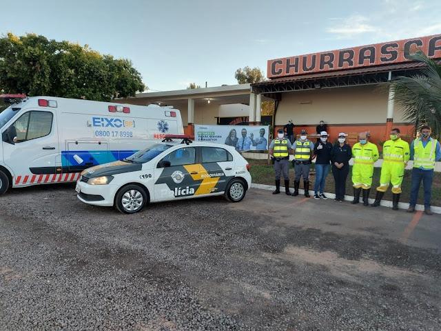 Ação em homenagem ao Dia do Motorista distribui 100 kits com alimentos e álcool em gel em Osvaldo Cruz