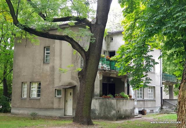 Warszawa Warsaw modernizm modernism willa profesorska AWF Akademia Wychowania Fizycznego architektura architecture