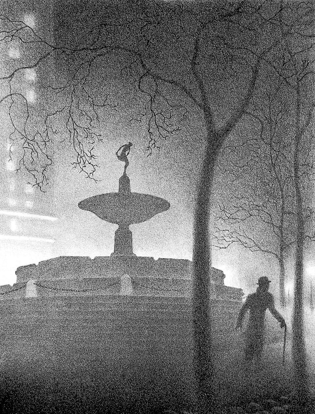 Ellison Hoover urban fog at night