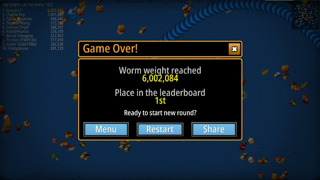 WormsZone Score