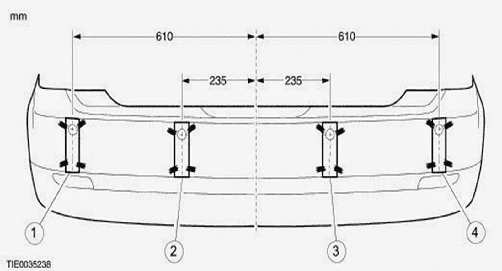 park sensörü ölçüleri