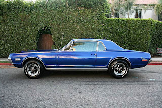1970 Mercury Cougar Eliminator Blue Side Picture