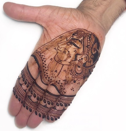 Bridal Mehndi Design for front hand