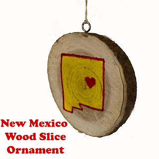 New Mexico Wood Slice Ornament
