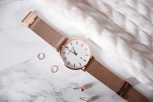 Abbott Lyon Rose Gold Watch Ted Bake Rose Gold Earrings Asos