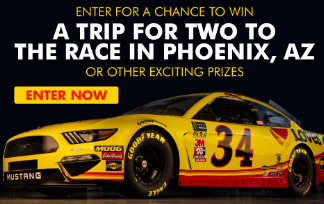 Shell Rotella & Love's Truck Stops want you to enter for a chance to win a trip for two to the race in Phoenix, Arizona, or other exciting prizes!