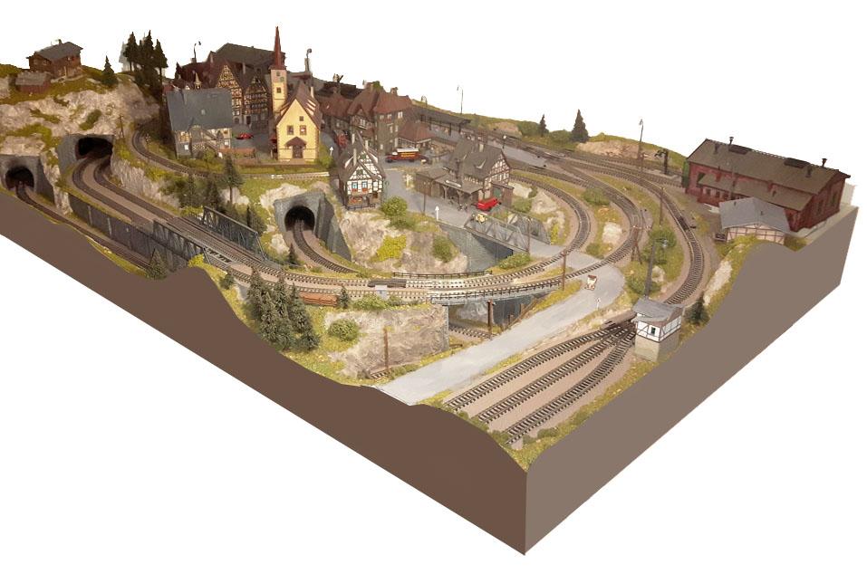 fantasy gelaende modellbahn spur n. Black Bedroom Furniture Sets. Home Design Ideas