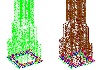 struktur scaffolding dalam 3d