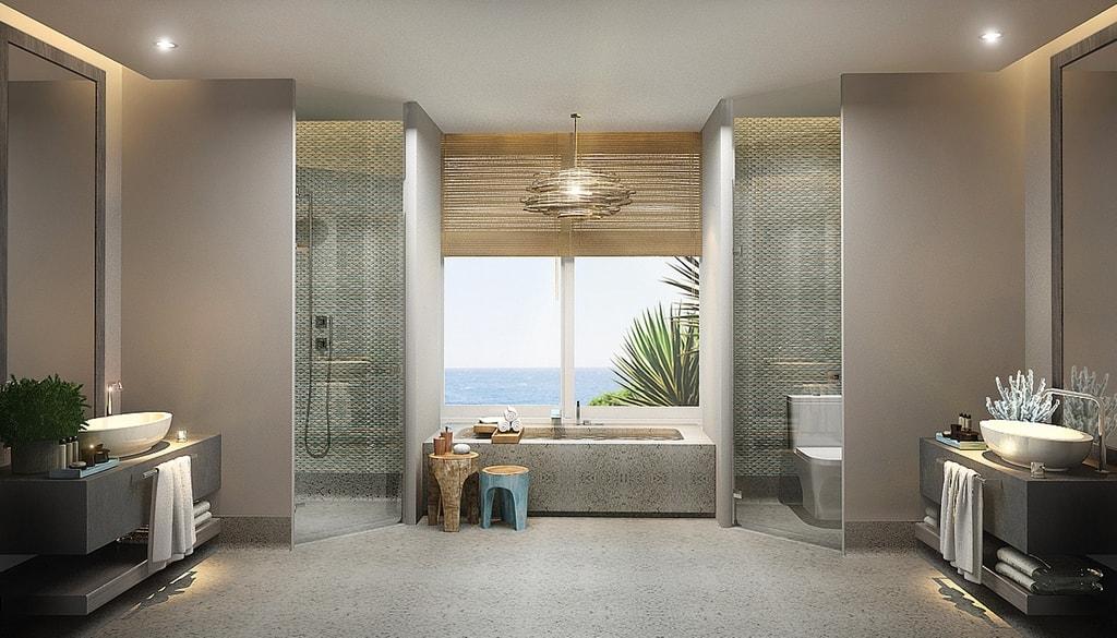 Phòng tắm và vệ sinh cũng được thiết kế chăm chút
