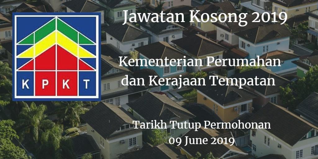 Jawatan Kosong KPKT 09 June 2019