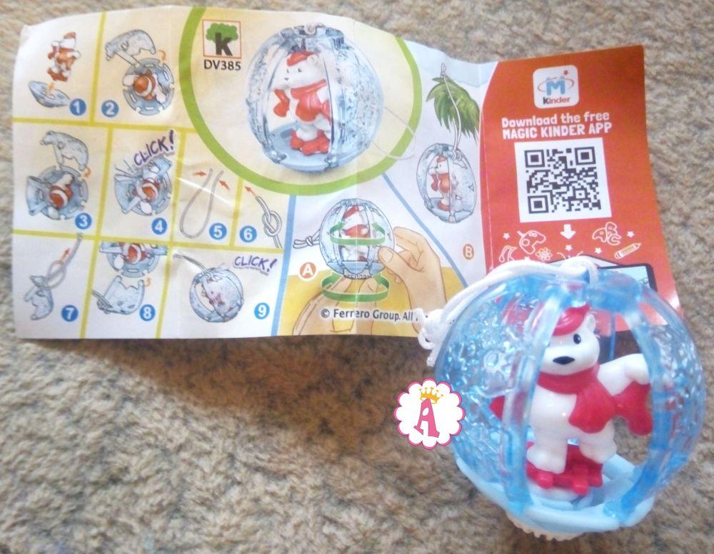 Новогодний мишка в шаре Kinder Surprise DV385