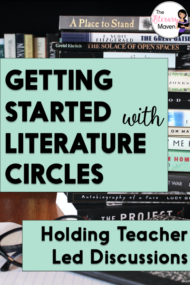 If you are new to literature circles or want enjoy talking about books with your students, teacher led lit circle discussions may be the way to go.