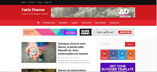 Takis Theme - Template Blog Luar Biasa