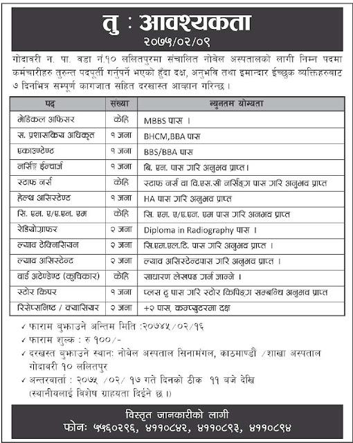 BHCM Vacancy