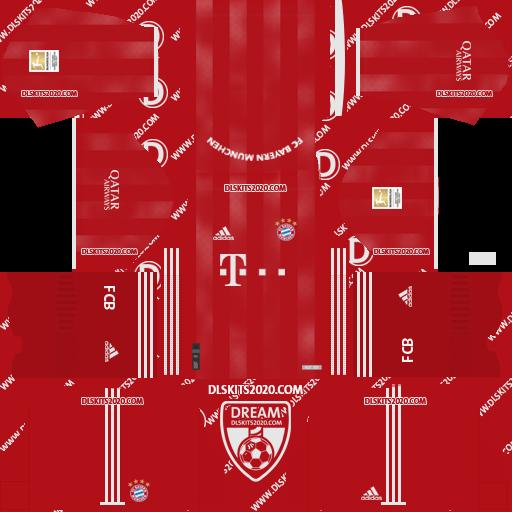 FC Bayern munich KITS 2020-2021 Home For Dream League Soccer 2019