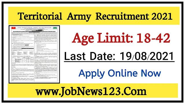 Territorial Army Recruitment 2021:
