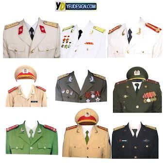 Mẩu áo quân phục ghép ảnh photoshop 06