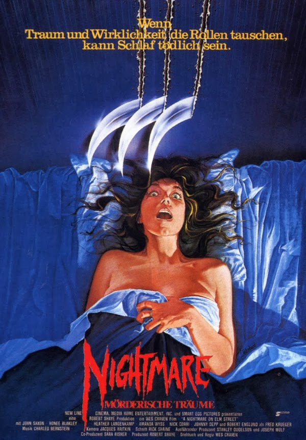 Deutsches Kinoplakat NIGHTMARE: MÖRDERISCHE TRÄUME (1984). Quelle: New Line Cinema