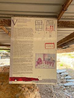 Varignano Roman Villa - Informational sign - baths