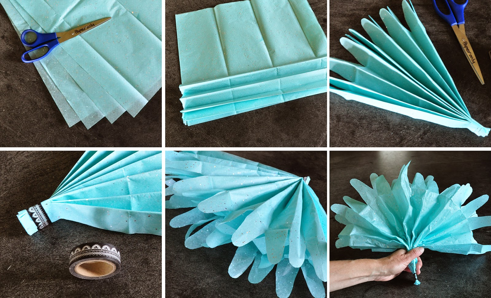 diy tissue paper pom pom gift toppers by Lorrie Everitt from Creative Bag