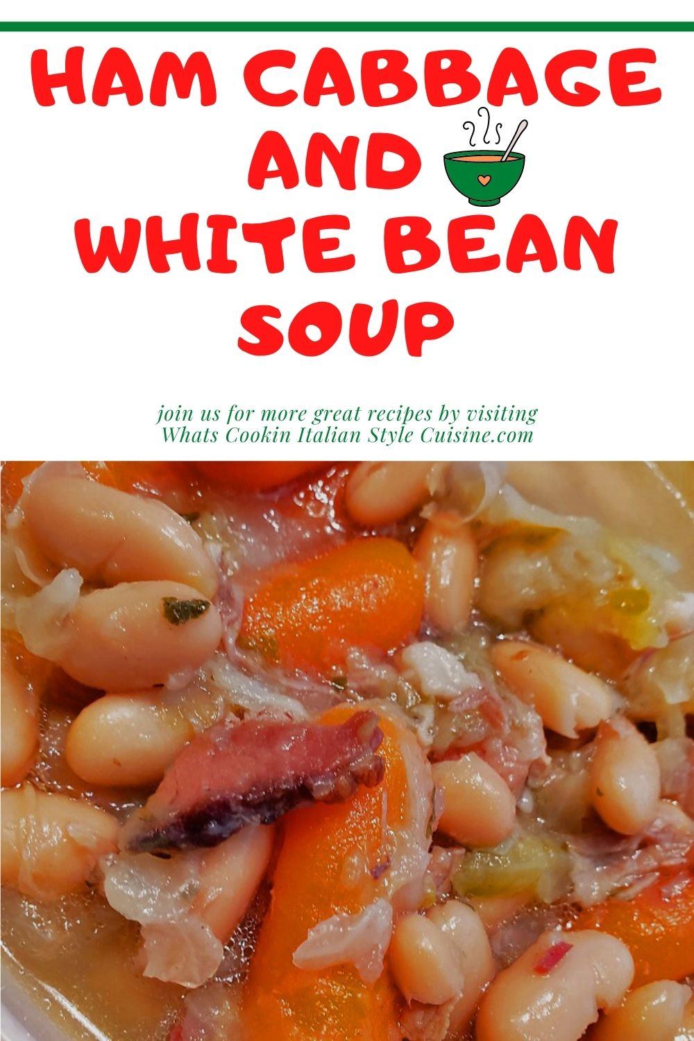 this is a pin for later on how to make cabbage with white bean soup