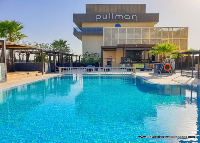 swimming pool in Pullman Hotel Dubai