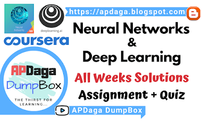 Coursera: Neural Networks and Deep Learning - All weeks solutions [Assignment + Quiz] - deeplearning.ai