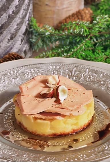 tatin , pommes, noel , foie gras