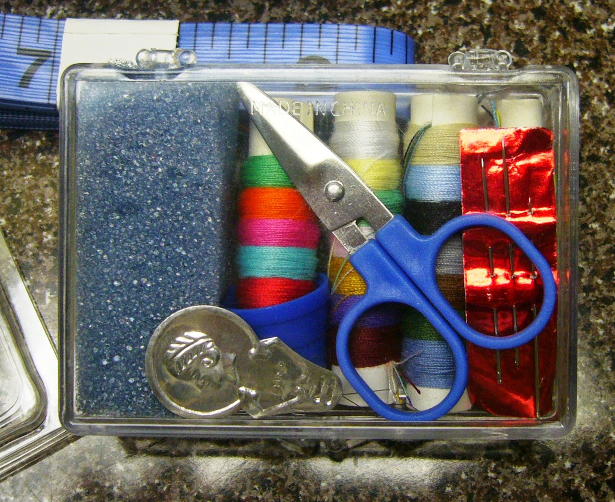 Sewing and mending kit.