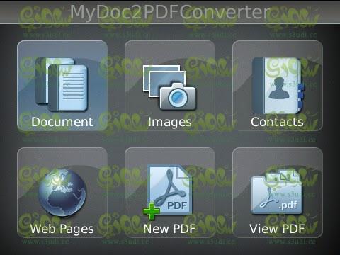 تحميل برنامج تحويل الملفات الى صيغة pdf للبلاك بيري مجانا  download MyDoc2PDFConverter blackberry free