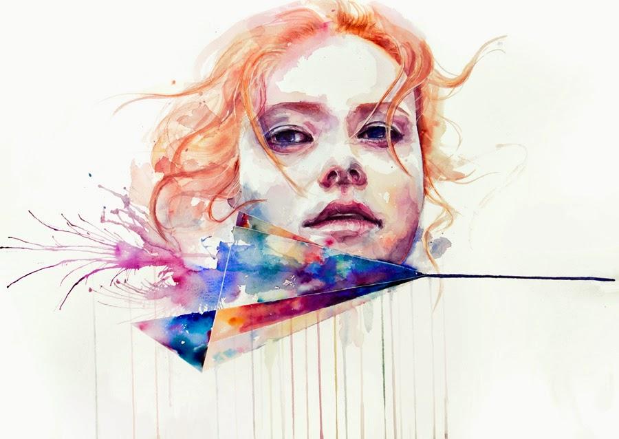 Conspiração de Silêncio - Agnes-Cécile e suas principais pinturas ~ aquarela