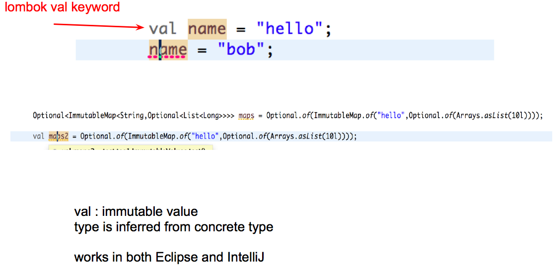 Remove duplications and fix bad names: Immutable Objects with Lombok