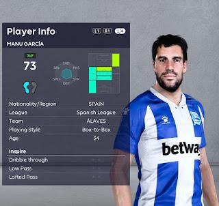 PES 2021 Faces Manu Garcia