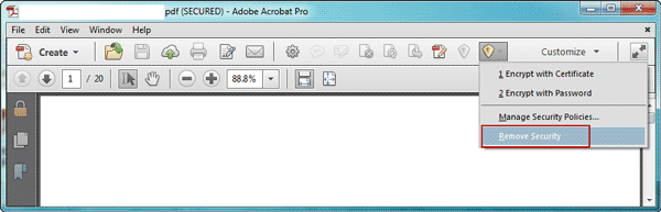 remove pdf password protection in adobe acrobat