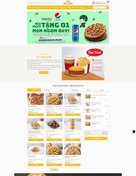 Theme blogger nhà hàng ẩm thực, quán ăn vặt