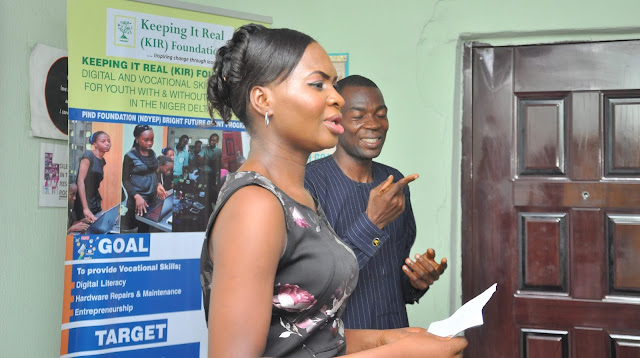 Trainees expressing gratitude -NDYEP graduation