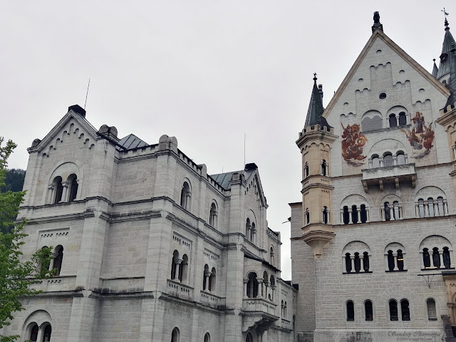 The palace courtyards within the Neuschwanstein Castle