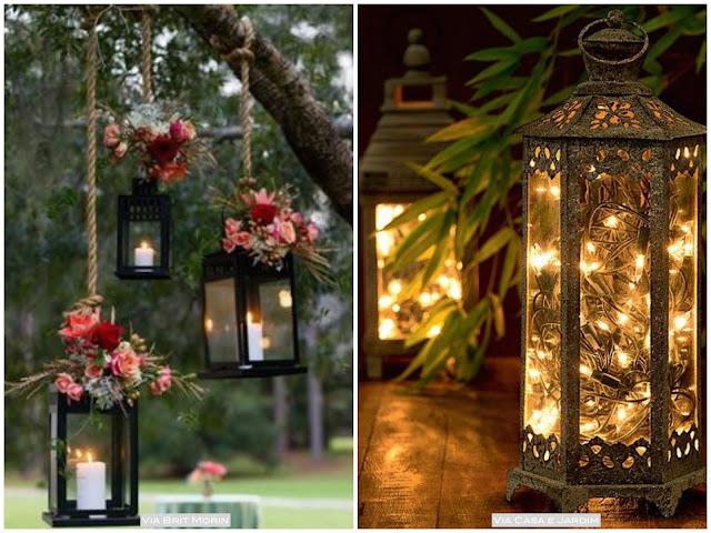 lanternas para casamento