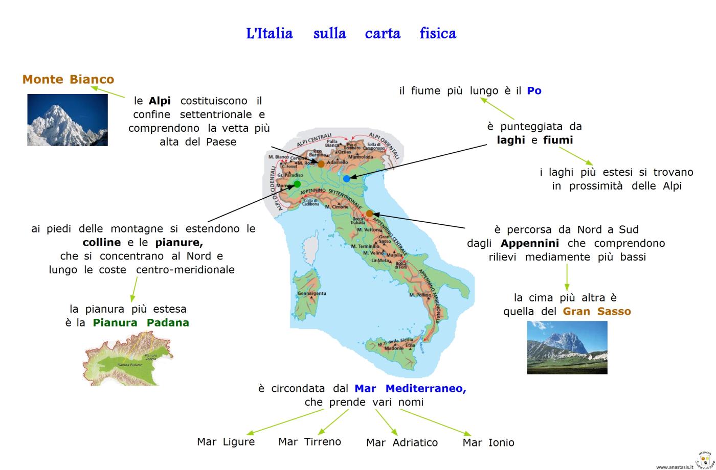Cartina Italia Colorata  Migliori Pagine da Colorare