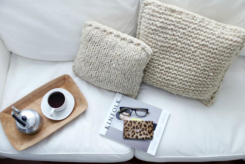 Cojines de pura lana virgen estilo wabi sabi