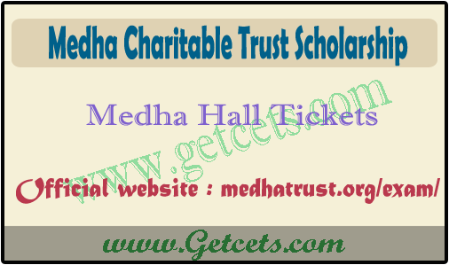 Medha charitable trust exam hall ticket 2021, Results download