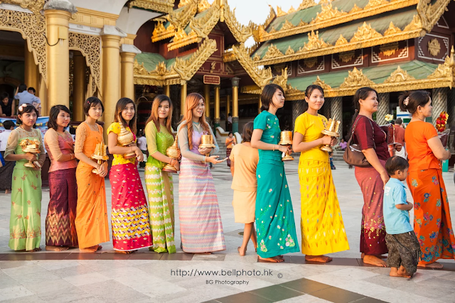Dress Code or Costumes Worn By Women in Myanmar