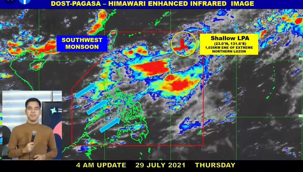 'Habagat' PAGASA weather update July 29, 2021