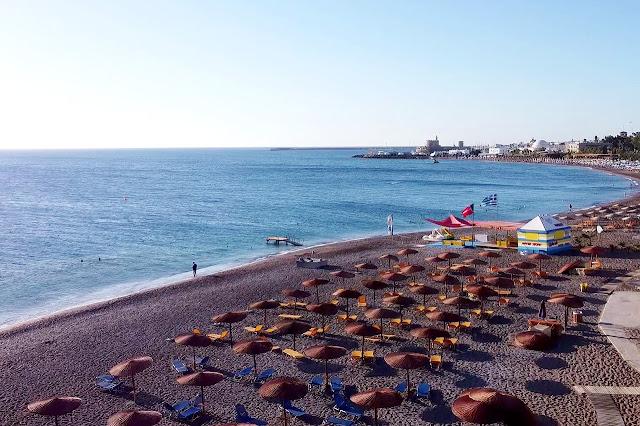 Mestna plaža Rodos, Grčija