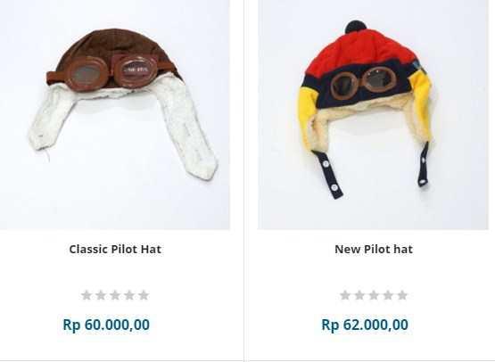 Perlengkapan bayi berupa topi