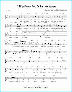 chord a nightingale sang in berkeley square lagu jazz standar
